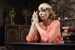 Aktris på scenen Arkivfoto
