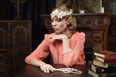 Aktris på scenen Royaltyfria Bilder