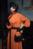 Aktris på scenen Royaltyfri Bild