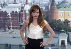 aktrisangelinajolie Arkivbild