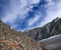Aktru Glacier in Altay Mountains Stock Images