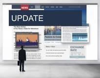 Aktualisierung neigt Berichts-Blitznachrichten-Konzept Lizenzfreies Stockfoto