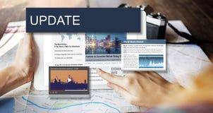 Aktualisierung neigt Berichts-Blitznachrichten-Konzept Lizenzfreies Stockbild