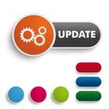 Aktualisierungs-Knopf-Schwarz-Orange PiAd Lizenzfreies Stockbild
