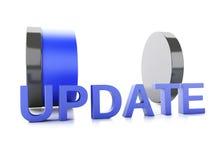 Aktualisierungsladenkonzept auf weißem Hintergrund Stockbild