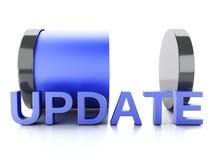 Aktualisierungsladenkonzept auf weißem Hintergrund Lizenzfreies Stockfoto
