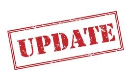 Aktualisierungsstempel auf weißem Hintergrund Stockbilder