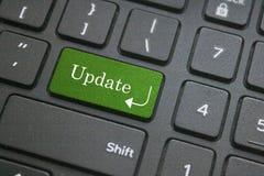 Aktualizaci słowo na komputerowej klawiaturze Zdjęcia Royalty Free