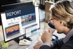 Aktualizacja trendów wiadomości błysku Raportowy pojęcie Zdjęcia Stock