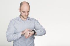 Aktualizować mądrze zegarek zdjęcia stock
