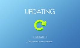 Aktualizować ulepszenia ściągania ulepszenia Nowego pojęcie ilustracja wektor