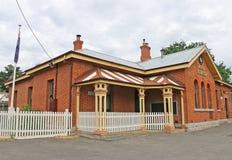 Aktualny urzędu pocztowego budynek działa od 1870 Alteracje zrobili w 1908 mieścić telefoniczną wymianę Zdjęcie Stock