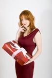 aktuell röd sexig valentinkvinna för dag Arkivbilder