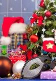 aktuell weihnachtspakete för jul Arkivfoton
