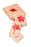 aktuell weihnachtspakete för jul Royaltyfria Bilder