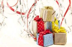 aktuell weihnachtspakete för jul Royaltyfri Fotografi