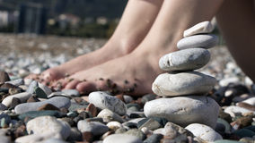 aktuella stenar för strand Arkivbild