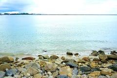 aktuella stenar för strand Arkivbilder