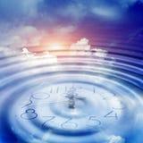 Aktuelle Uhrzeit vektor abbildung