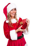 aktuellt kvinnabarn för jul royaltyfri fotografi