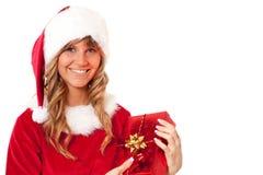 aktuellt kvinnabarn för jul royaltyfri foto