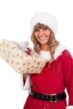aktuellt kvinnabarn för jul royaltyfri bild