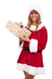 aktuellt kvinnabarn för jul fotografering för bildbyråer
