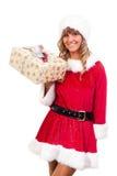 aktuellt kvinnabarn för jul arkivfoto