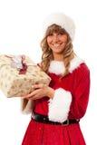 aktuellt kvinnabarn för jul arkivfoton