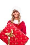 aktuellt kvinnabarn för jul royaltyfria foton