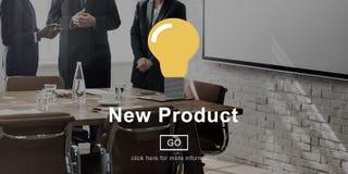 Aktuellt modernt begrepp för ny produktutveckling arkivfoton
