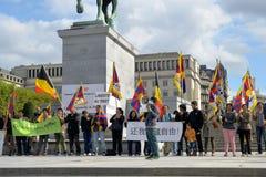 Aktywiści Tybetańska społeczność Zdjęcia Royalty Free
