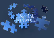 Aktywna ogólnospołeczna sieć Obraz Stock
