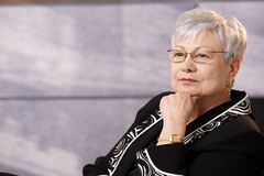 aktywna portreta seniora kobieta Zdjęcia Stock