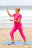 aktywna starsza kobieta Zdjęcia Royalty Free
