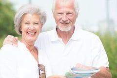 Aktywna starsza para zdjęcia royalty free
