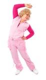 aktywnego trenowania starsza sprawności fizycznej dama Zdjęcie Royalty Free