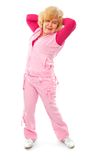 aktywnego trenowania starsza sprawności fizycznej dama Fotografia Stock
