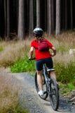 Aktywni ludzie jechać na rowerze Zdjęcie Stock