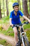 Aktywni ludzie jechać na rowerze Obraz Stock