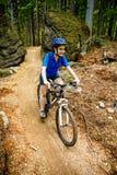 Aktywni ludzie jechać na rowerze Fotografia Stock