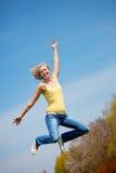 aktywni wysocy skokowi światła słonecznego kobiety potomstwa Fotografia Royalty Free