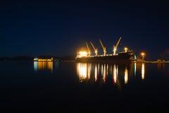 aktywność ładunku Hamburg portu statek Fotografia Stock