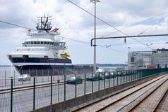 aktywność ładunku Hamburg portu statek Zdjęcia Stock