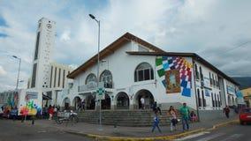 Aktywność na zewnątrz kwater głównych Decentralizujący Autonomiczny rząd Tumbaco Zdjęcie Stock