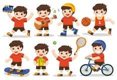 Aktywność ustawiająca dzieciak royalty ilustracja