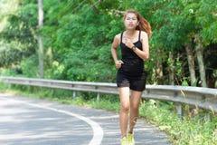 Aktywności piękna kobiet biegać Obrazy Stock