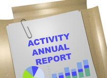 Aktywności sprawozdanie roczne - biznesowy pojęcie Obrazy Stock