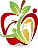 aktywny jabłczany logo ilustracji