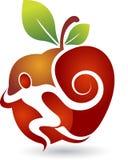 aktywny jabłczany logo ilustracja wektor